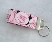 Mini Key Fob  - Pink Pigs