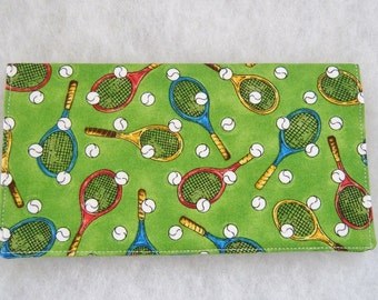 Checkbook Cover - Tennis