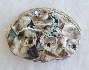 Small Quilted Purse - Koalas