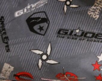 MadieBs G.I. Joe  Flannel Cotton Stripe Toddler Crib Sheet set 3 piece personalized