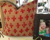 Furry cross pillow - sale