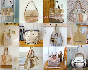75 Easy to make Cute Bags and Pouches Sewing Craft Book