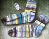 OCEAN and SKY Stripey Socks Size 10-11 Men's
