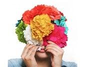 Bridal hair flower, Barrette, hair clip.