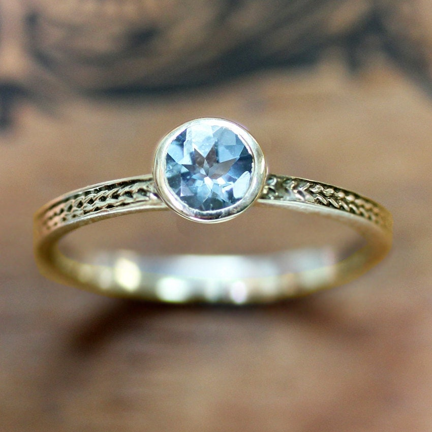 aquamarine engagement ring gold aquamarine ring vintage. Black Bedroom Furniture Sets. Home Design Ideas