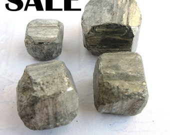 Iron Pyrite Cubes - no hole (4X) (NS560) SALE - 33% off