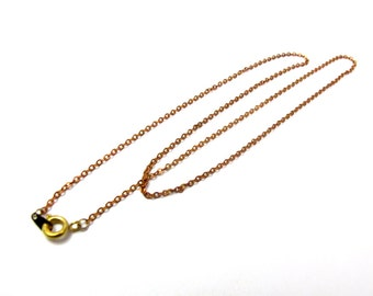 Vintage Red Brass Cable Chain Necklaces (8X) (18 inches) (C640-A)
