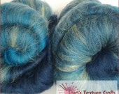 STARLIGHT OMBRE 100g (3.53oz)  Hand Carded Batts for Felting, Dreads, Spinning