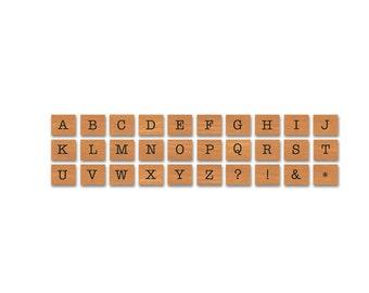 Cavallini Vintage Alphabet Upper Case Rubber Stamp Set