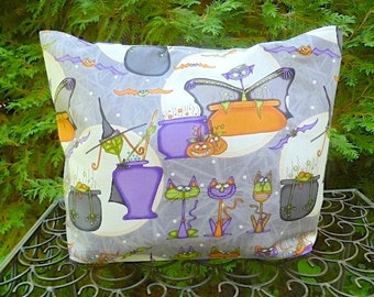Witch purse, bats, cats and vats, long or short handles you pick, The Tallullah