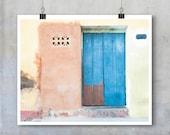 Travel Photography - Trinidad, Cuba, wall, door, house, pastel yellow, salmon, blue - 10x8 11x14 20x30 inch fine art photography wall art