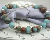 Opal and Amazonite bracelet with Sterling Silver accents