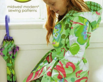 Little Splashes Hooded Raincoat - Amy Butler Sewing Pattern