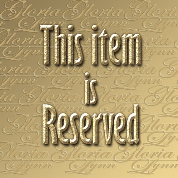 RESERVED for Pam - Powerful Presence - Z114