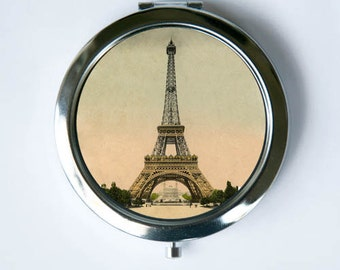 Eiffel Tower Compact Mirror Pocket Mirror  parisian victorian Paris