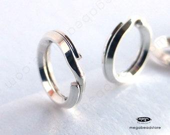 20 pcs 6mm Split Rings 925 Sterling Silver Jump Rings F441
