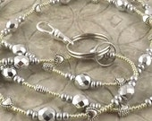 Simply Silver beaded lanyard perfect for your work badge ID card dorm key whatever you need it for BEST SELLER
