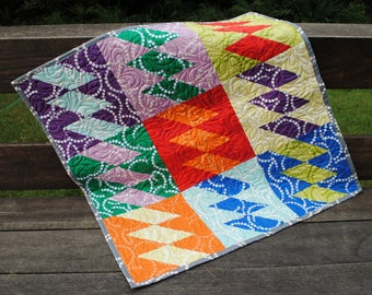 Handmade Patchwork Baby Quilt or Crib Quilt
