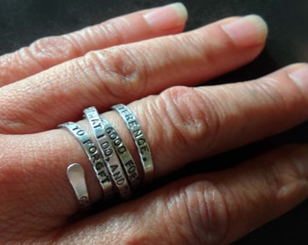 SENILITY Prayer Ring Original by donnaodesigns