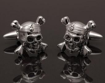 Sterling Silver Pirate Cufflinks