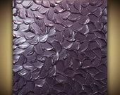 ORIGINAL Abstract Metallic Aubergine Dusty Purple Painting Eggplant Home Decor Wall Art Texture Painting Large Modern Art MIX&MATCH ~Susanna