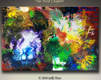 Canvas giclee art, large wall art from my original abstract painting The Next Chapter, spiritual art