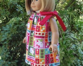 American Girl Doll Clothes Kitty Pillowcase Dress SewSoNancy Boutique