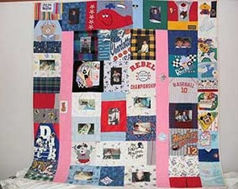 Memory baby clothes quilt