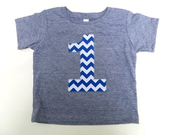 Choose one Biggie Number 1st Birthday Shirt with Royal one Chevron Number Birthday T Shirt  triblend grey Birthday Shirt