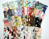 Fairytale SCRAP PACK - 50 Pieces - Little Red Riding Hood, Alice in Wonderland, Frog Prince, Cinderella - Japanese Import Fabric