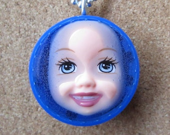 Oh Toothless One  -  Upcycled Baby Doll Pendant