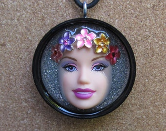 ISLAND GIRL - Upcycled Barbie Doll Pendant