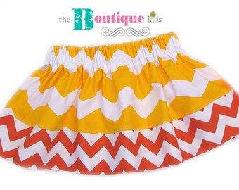 Sample Sale----The Boutique Kids Candy Corn Baby girl ----- skirt ----- Trick or Treat Halloween Fall 6-9 Months
