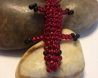 Beaded Lizard Keychain /bag accessories... Free Shipping