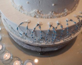 8 Turquoise Wedding Cake Bracelet Pulls
