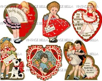 Vintage 1930s Children Valentine Digital Download 333 - by Vintage Bella