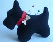 Wool Felt Scottie  Scotty Dog PinCushion Special Order for mcw61