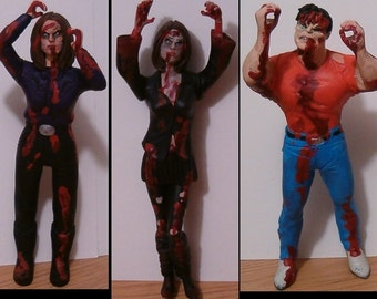 1 Climbing Zombie Figurine Cake Topper - Your Choice - Custom Figure Sculpture Commission