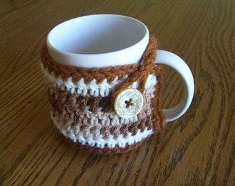 Hand Crochet Brown Coffee Mug Cozy