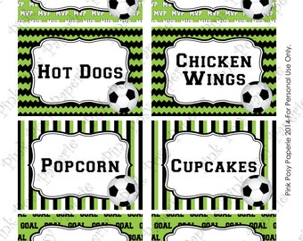 Printable Soccer Birthday Food Labels