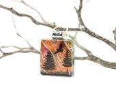 Eagle Pendant - Dichroic Eagle Necklace - Dichroic Jewelry - Fused Glass Eagle Pendant