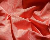 Bengaline Damask Fabric 2 Yards + Coral-Colored Yardage