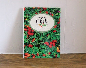 "Vintage Cookbook Seasoning ""Book of Chili"" Jackie French Cooking"