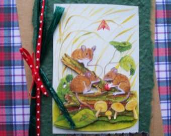 Timorous Beastie Mouse Birthday or Greetings Card - Burns Night - Scottish
