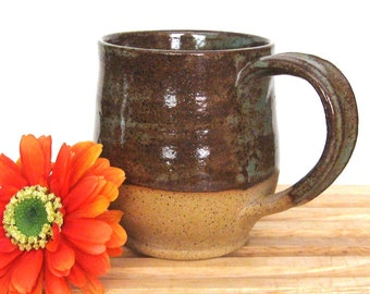 Stoneware Mug -  Ready to Ship - Bare Bottom - 14 oz - Hand Thrown