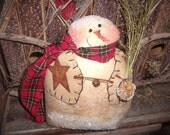 SALE  ePattern - Frosty Freddy Snowman Cupboard Tuck Decoration