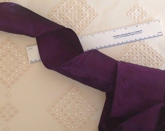 """Vintage French Wired Taffeta Ribbon Deep Purple Color 3.75"""" wide x 1 yd"""