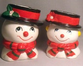 Vintage Inarco Snowman and Snow Lady
