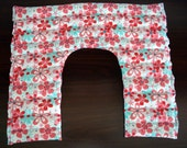 U Shaped Lavender and Rice Microwaveable Hot Pack, Cold Pack, Floral Cotton Hot Rice Pack, Handmade