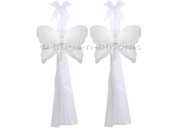 Butterfly Tie Backs White Nylon Butterflies Tieback By Bugsnblooms